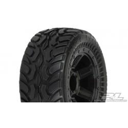 Pro-Line PR1071-11 Dirt Hawg I off-road banden gemonteerd voor 1/16 E-REVO, Gemonteerd op Desperado Black Wheels  Passend op:   [F/R] 1/16 E-REVO®