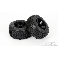 """Pro-Line PR1178-11 Badlands 3.8"""" (Traxxas Style Bead) All Terrain Tires Mounted"""