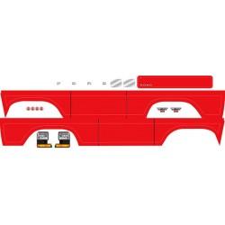 Traxxas TRX8078R Stickervel, Bronco, rood