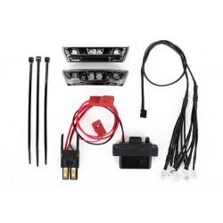 Traxxas TRX7185 LED-licht kit, 1/16 E-Revo (inclusief voeding, voor-en achterbumpers, licht harnas (4 heldere, 4 rood), kabelbinders)