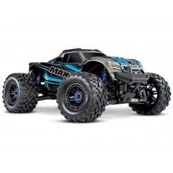 Traxxas Maxx 1/10 Scale 4WD Brushless Electric Monster Truck, VXL-4S, TQi - BLUE