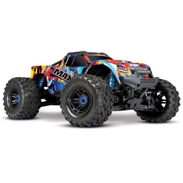 Traxxas Maxx 1/10 Scale 4WD Brushless Electric Monster Truck, VXL-4S, TQi Rock 'N Roll Electro Auto's 1/10