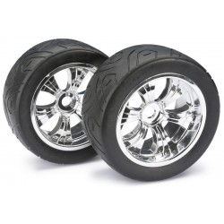 "Wheel Set LP Truggy ""Street"" chrome 1:8 (2)"